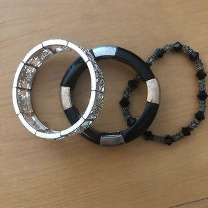 Stretch Bracelets - lot of 3. Interesting designs!